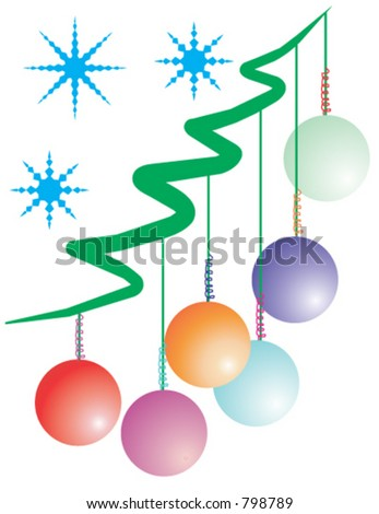 Christmas decorations in vector format.