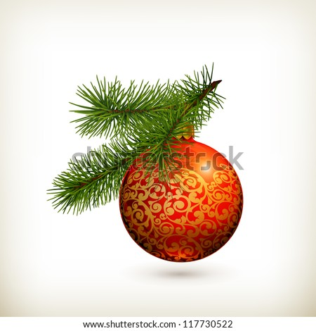 Christmas decorations, vector - stock vector