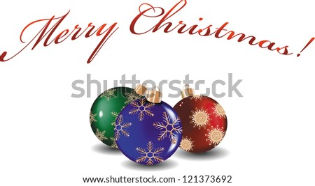 Christmas decorations. Vector