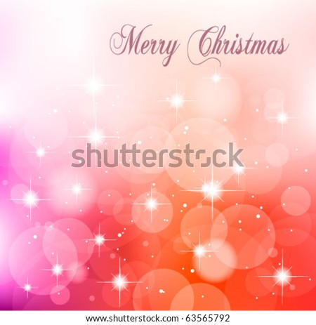 Christmas Delicate Abstract Background for Themed Flyers - stock vector