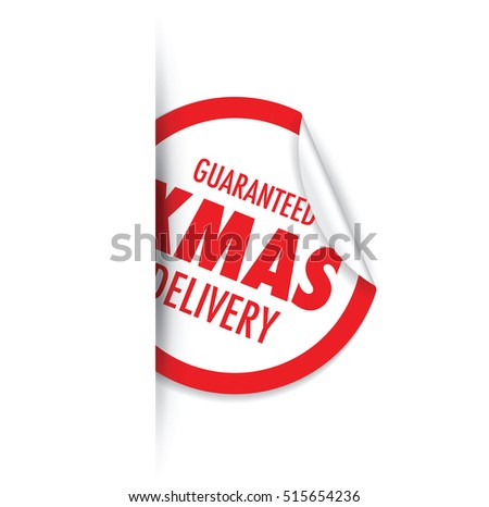 Christmas Delivery Tag Label Set Stock Vector 515654206 - Shutterstock