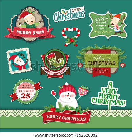 Christmas design and decorative elements  - stock vector