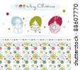 Christmas design elements, snowflake seamless pattern, EPS10 - stock vector