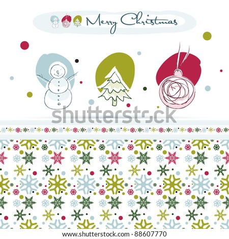 Christmas design elements, snowflake seamless pattern, EPS10 - stock vector