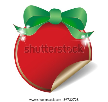 Christmas discount sticker, tag - stock vector