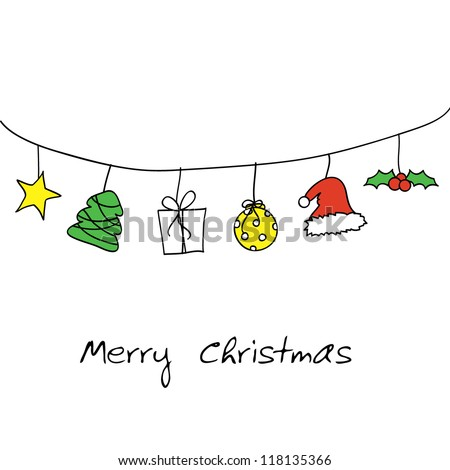 christmas doodle card designs for christmas, holidays and others