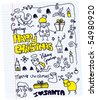 Christmas doodle collection of vector illustrations - stock vector