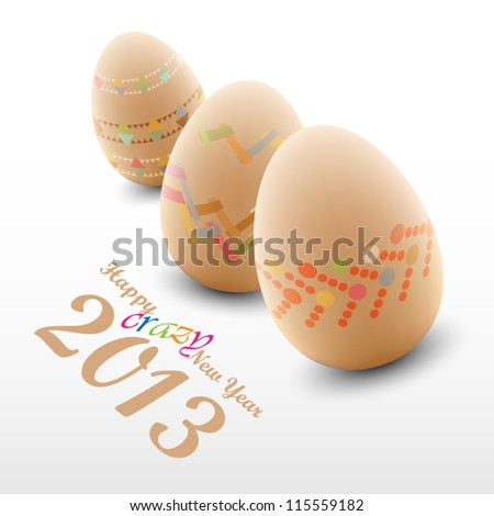 Christmas Eggs background - year 2013 - stock vector
