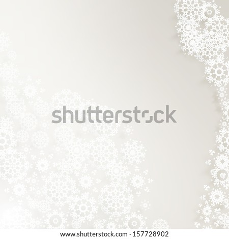 Christmas elegant background with snowflakes. And also includes EPS 10 vector - stock vector