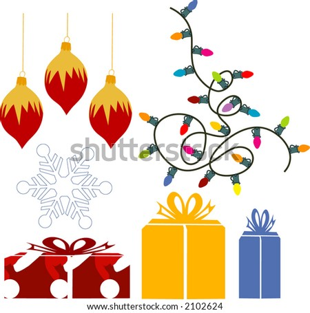 christmas elements for your designs - stock vector