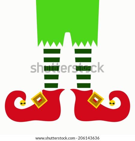 christmas elf legs - stock vector