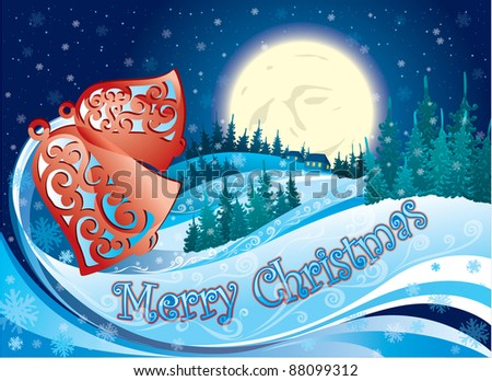 Christmas eve - stock vector