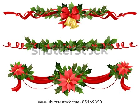 Christmas festive decoration - stock vector