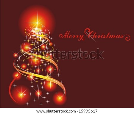 Christmas fir tree - stock vector