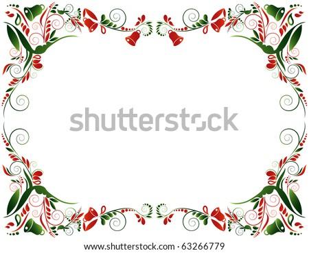 Christmas frame, vector - stock vector