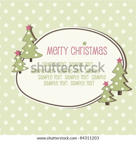 Christmas frame, vector - stock vector