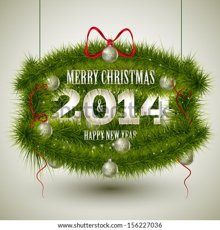 Christmas frame with Christmas trees. - stock vector