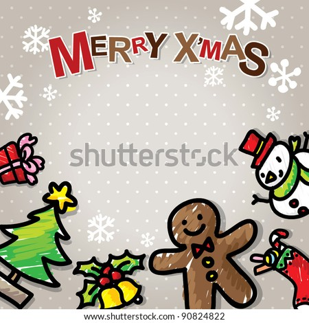 Christmas friends - stock vector