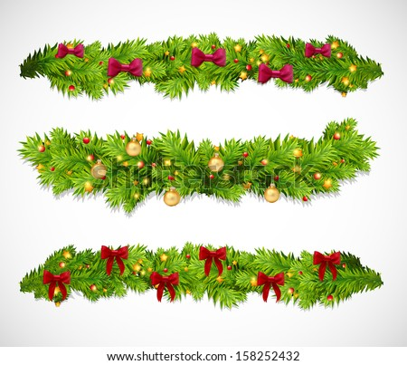 Christmas garlands. Vector illustration - stock vector