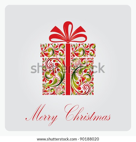 Christmas gift box. - stock vector
