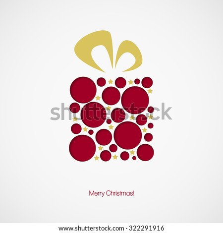Christmas gift box. Vector illustration EPS 10 - stock vector