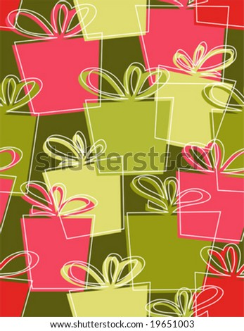 Christmas Gift boxes - seamless pattern wallpaper retro