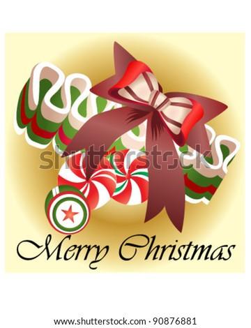 Christmas Gift Candy - stock vector