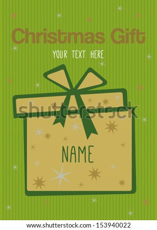 Christmas gift card or voucher. Separate layers for easy editing. - stock vector