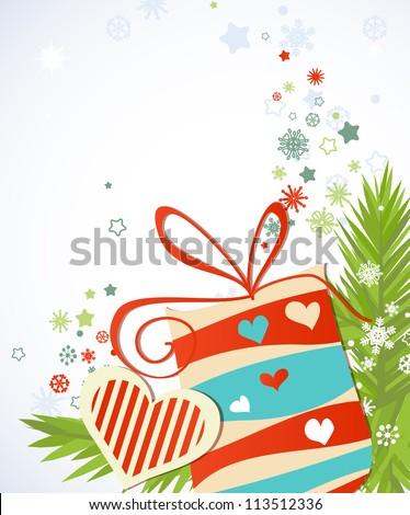 Christmas gift vector - stock vector