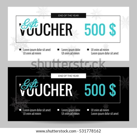 Christmas gift voucher coupon discount elegant stock vector 2018 christmas gift voucher coupon discount elegant gift certificate template for merry christmas shopping concept yadclub Image collections