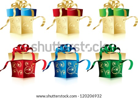 Christmas gifts - stock vector