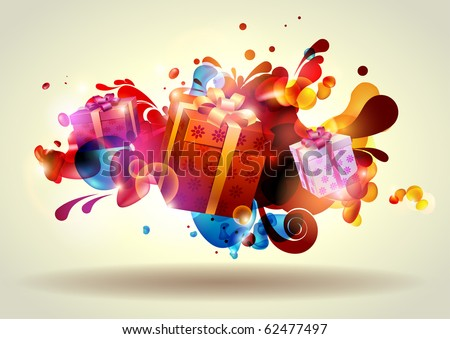 Christmas gifts. - stock vector