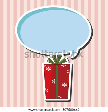 Christmas gifts theme elements - stock vector