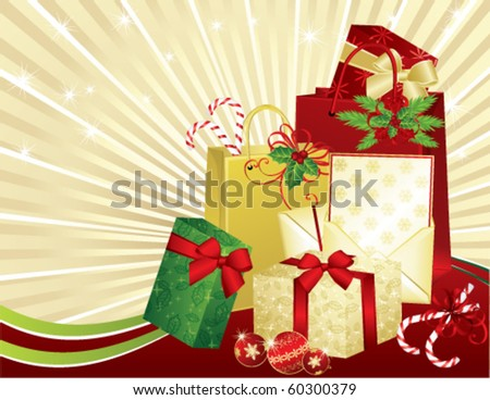 Christmas Gifts, vector - stock vector