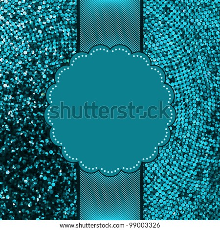Christmas Glittering background. Holiday abstract card. EPS 8 vector file included - stock vector