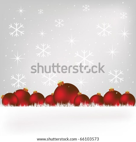 Christmas globe - stock vector