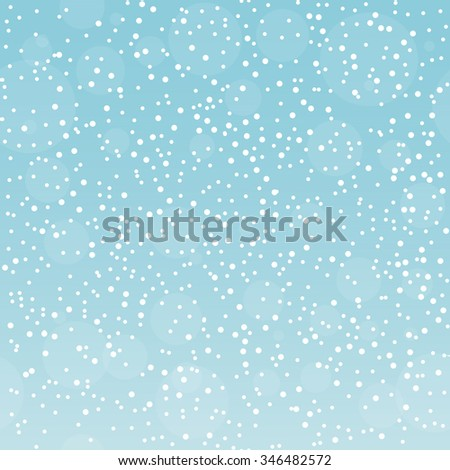 Christmas gradient pattern with snowflakes in the sky - stock vector