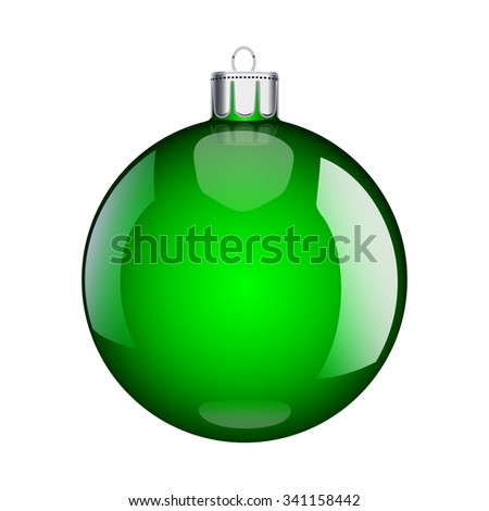 Christmas green ball vector