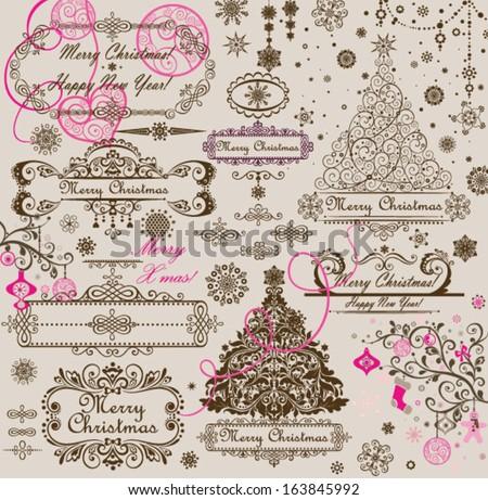 Christmas greeting - stock vector