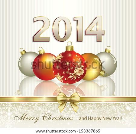 Christmas greeting card 2014 stock vector 153367865 shutterstock christmas greeting card 2014 m4hsunfo