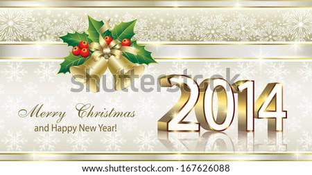 Christmas greeting card 2014 stock vector 2018 167626088 christmas greeting card 2014 m4hsunfo