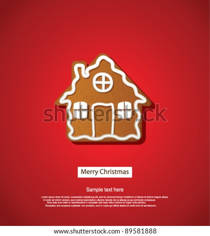 Christmas greeting card - stock vector