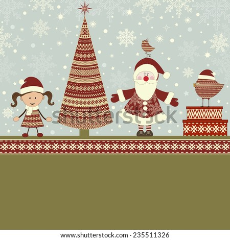 Christmas greeting card and place for text