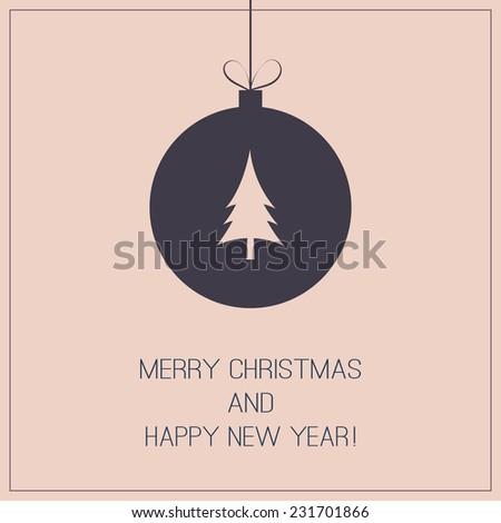 Christmas Greeting Card - Christmas Ball - stock vector