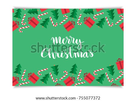 Christmas greeting card template merry christmas stock vector 2018 christmas greeting card template merry christmas hand drawn lettering on pattern with gift christmas m4hsunfo Gallery