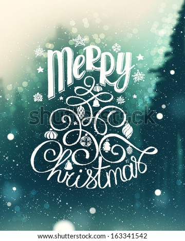Christmas greeting card. Vector - stock vector