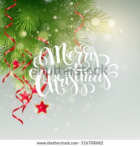 Christmas greeting card. Vector illustration EPS 10 - stock vector