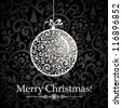 Christmas Greeting Card. Vintage card with Christmas ball. vector illustration - stock