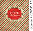 Christmas Greeting Card - Vintage Style - stock vector