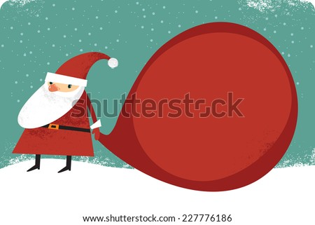 Christmas greeting card with copy space - stock vector